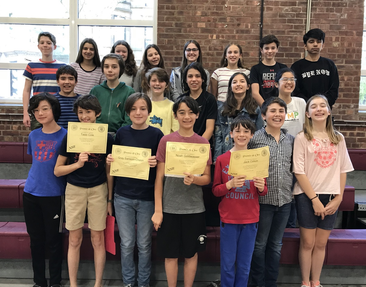 Middle Schoolers Score in Top 1% of Students on National Spanish Exam