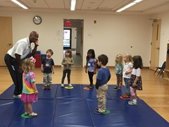 Junior campers participate in movement