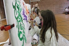 Students perfect their murals