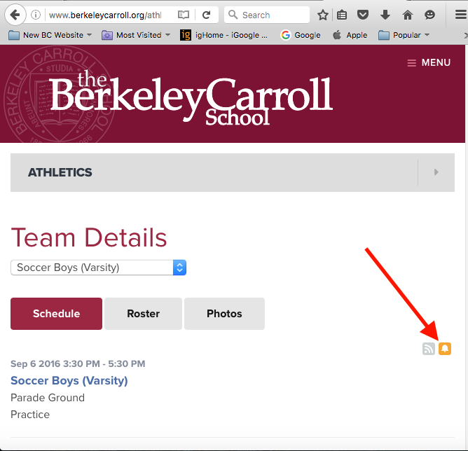 how to sign up for text alerts the berkeley carroll school